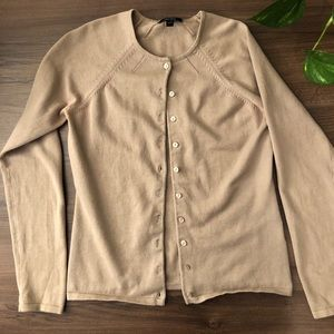 Tan Buttons Down Sweater 100% Cotton